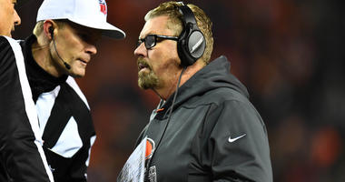 Dec 15, 2018; Denver, CO, USA; Cleveland Browns head coach Gregg Williams during the third quarter against the Denver Broncos at Broncos Stadium at Mile High. Mandatory Credit: Ron Chenoy-USA TODAY Sports