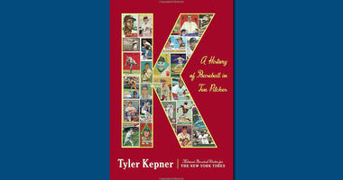 """The cover of """"K: A History of Baseball in Ten Pitches"""""""
