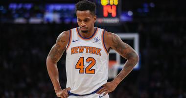 Oct 20, 2018; New York, NY, USA; New York Knicks forward Lance Thomas (42) at Madison Square Garden. Mandatory Credit: Wendell Cruz-USA TODAY Sports