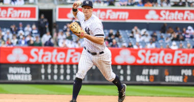 Apr 20, 2019; Bronx, NY, USA; New York Yankees second baseman DJ LeMahieu (26) at Yankee Stadium. Mandatory Credit: Wendell Cruz-USA TODAY Sports