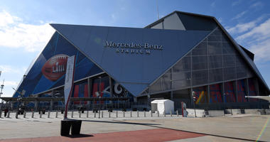 Jan 28, 2019; Atlanta, GA, USA: General overall view of the Mercedes-Benz Stadium exterior prior to Super Bowl LIII between the Los Angeles Rams and the New England Patriots. Mandatory Credit: Kirby Lee-USA TODAY Sports