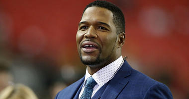 Jan 22, 2017; Atlanta, GA, USA; Media personality Michael Strahan at the 2017 NFC Championship Game between the Atlanta Falcons and the Green Bay Packers at the Georgia Dome. Mandatory Credit: Brett Davis-USA TODAY Sports