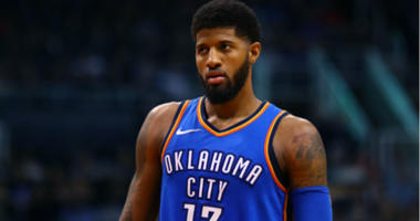 Paul George against the Phoenix Suns at Talking Stick Resort Arena in Phoenix.
