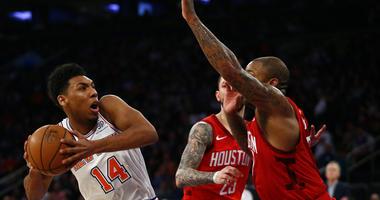 The Knicks' Allonzo Trier against the Houston Rockets on Jan. 23, 2019.
