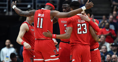 Texas Tech in the championship game of the west regional of the 2019 NCAA Tournament at Honda Center. Mandatory Credit: Robert Hanashiro-USA TODAY Sports