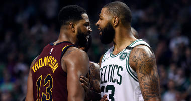Tristan Thompson Argues With Marcus Morris