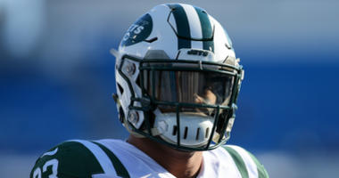 New York Jets strong safety Jamal Adams (33) prior to the game against the Buffalo Bills at New Era Field.