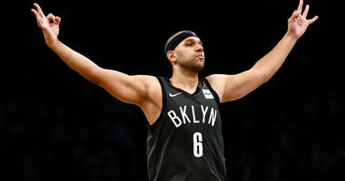 Jared Dudley reacts in the third quarter against the Phoenix Suns at Barclays Center.