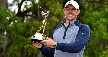 Rory McIlroy celebrate winning THE PLAYERS Championship golf tournament at TPC Sawgrass - Stadium Course.