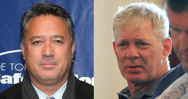 Ron Darling (left) and Lenny Dykstra