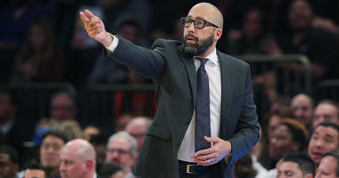 Knicks coach David Fizdale coaches against the Golden State Warriors on Oct. 26, 2018, at Madison Square Garden.