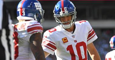 Giants quarterback Eli Manning and wide receiver Odell Beckham Jr.