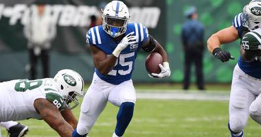 Colts running back Marlon Mack