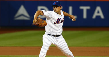 The Mets' Jason Vargas (40) pitches against the Cincinnati Reds on Aug. 7, 2018, at Citi Field.