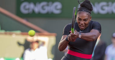 Serena Williams in action during her match against Ashleigh Barty on May 31, 2018, at Roland Garros in Paris.