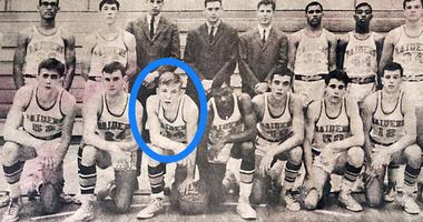 Dave Twardzik (circled) and the 1968 Middletown High School Pennsylvania state championship basketball team.