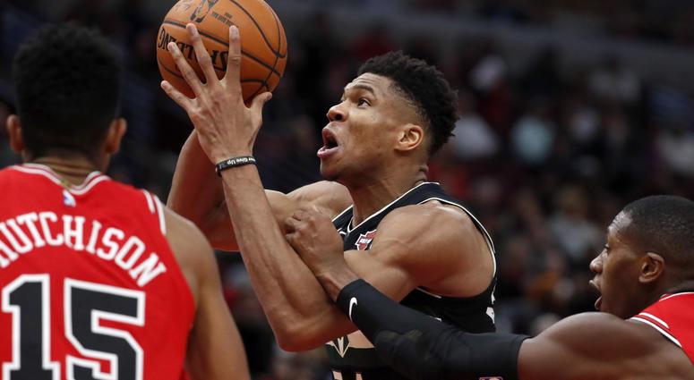 NBA Chicago Bulls vs Milwaukee Bucks 18 Nov 2019
