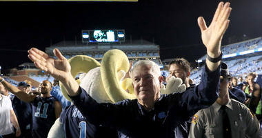 Josh Parcell Catches Up With Mack Brown After Carolina's Big Win Over Duke
