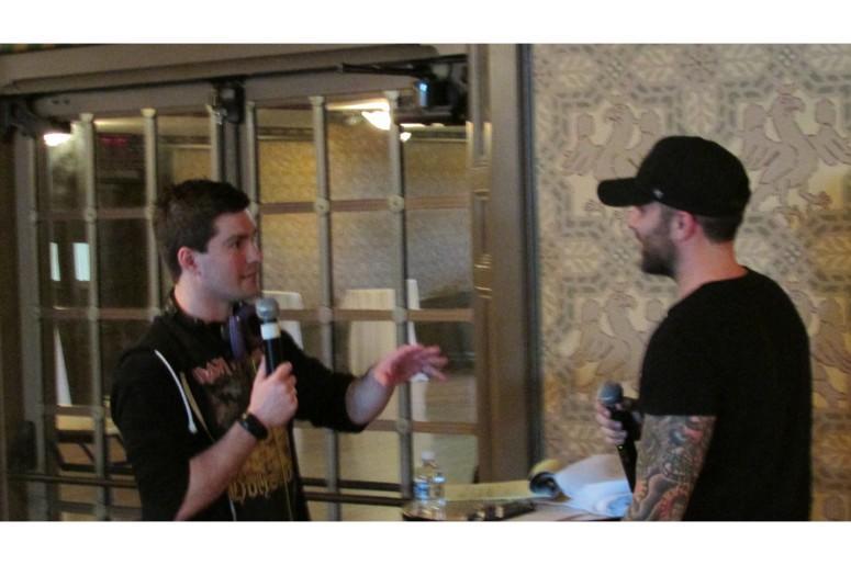 Crockett Chatting With Tyler Rich