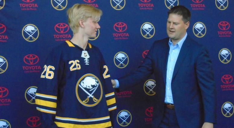 new concept 5b135 caa5c Dahlin: 'It's amazing to put on the Sabres jersey' | WGR 550 ...