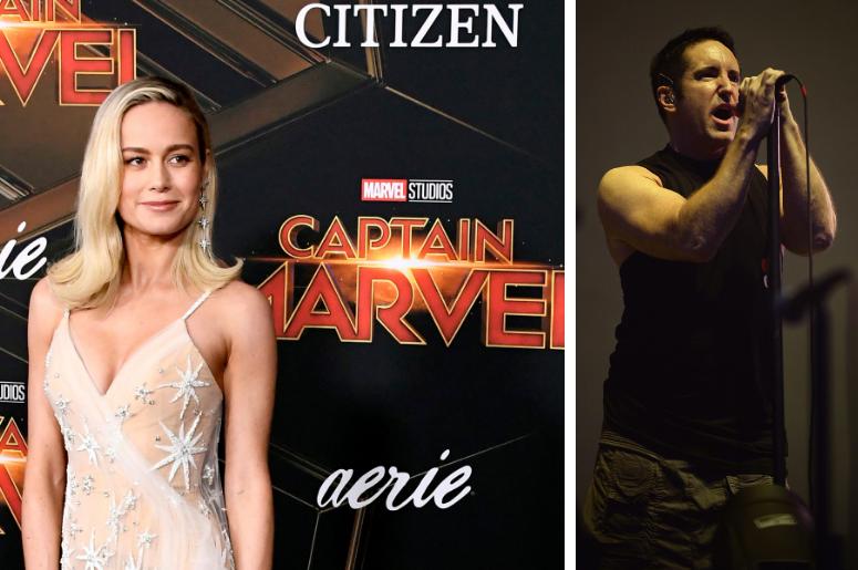 Brie Larson and Trent Reznor