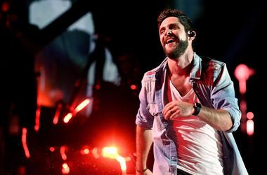 Nashville, TN, USA; Thomas Rhett performs during the 2018 CMA Music Festival at Nissan Stadium