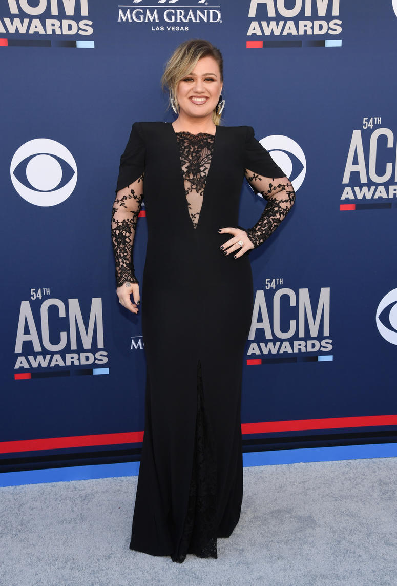 Kelly Clarkson attends the 54th Academy Of Country Music Awards at MGM Grand Hotel & Casino on April 07, 2019 in Las Vegas, Nevada