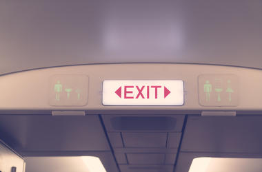 emergency exit on plane