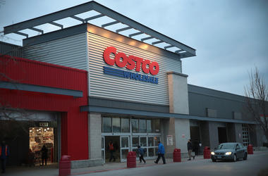 The exterior of a Costco store