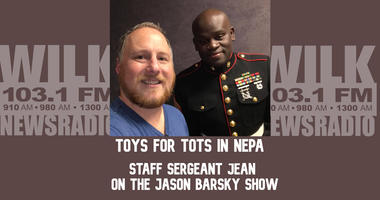Staff Sergeant Jean discusses Toys for Tots in NEPA on the Jason Barsky Show