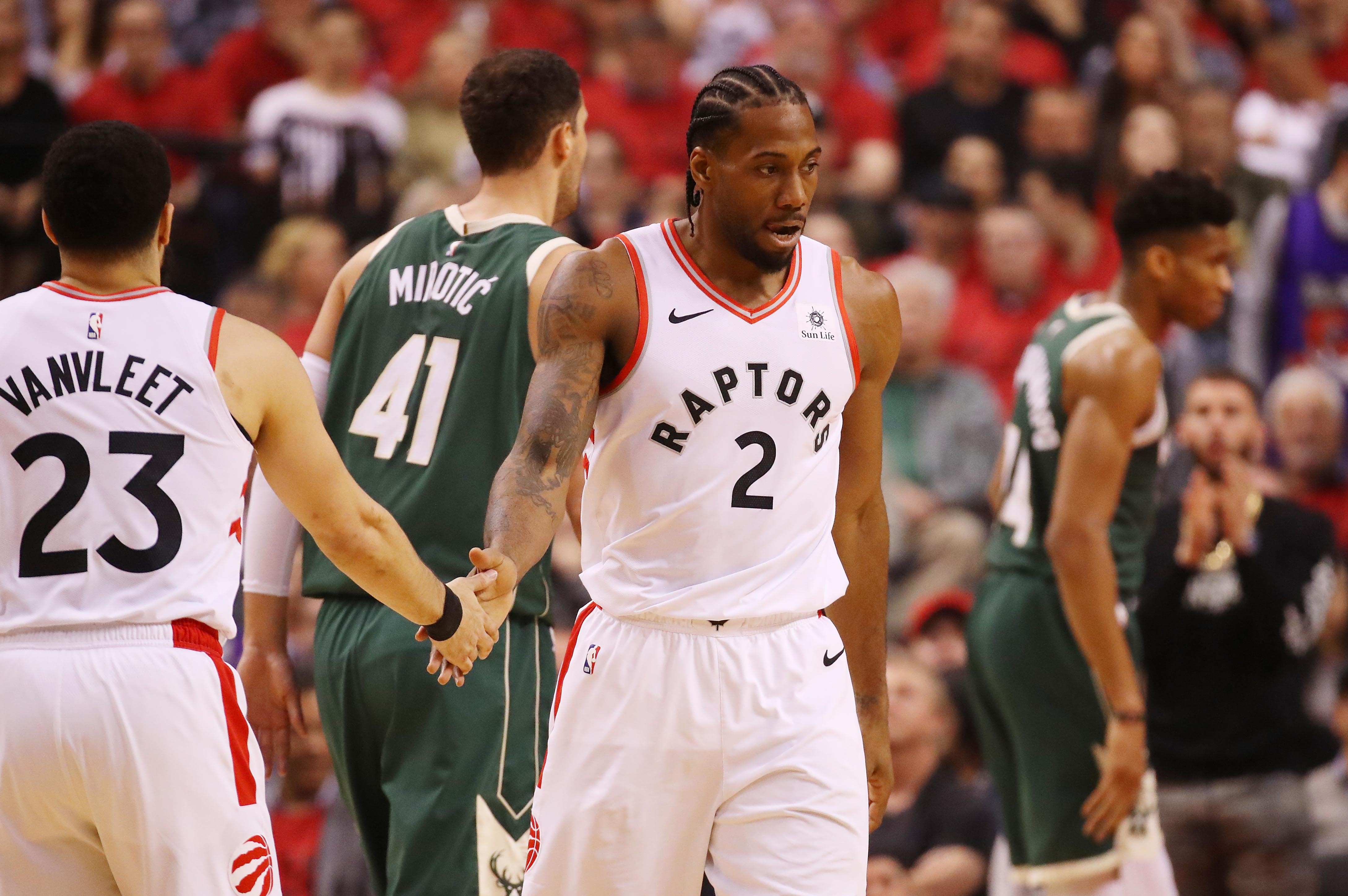 1bdbbc2d1 2019 NBA Playoffs  Toronto Raptors Even Series with Milwaukee Bucks ...