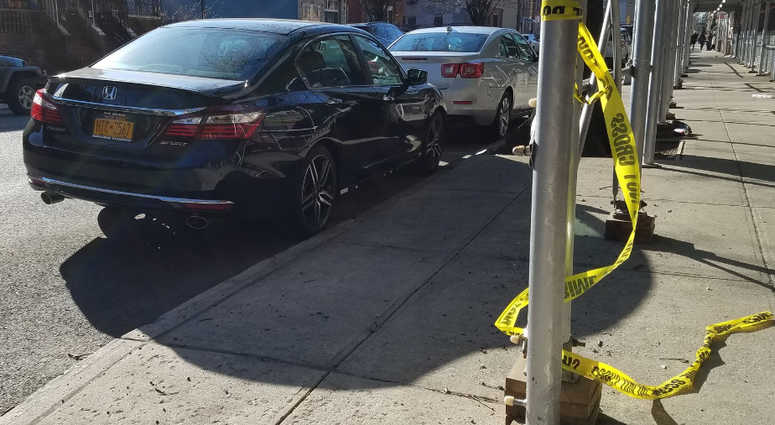 The scene where an Uber driver was shot during a robbery.