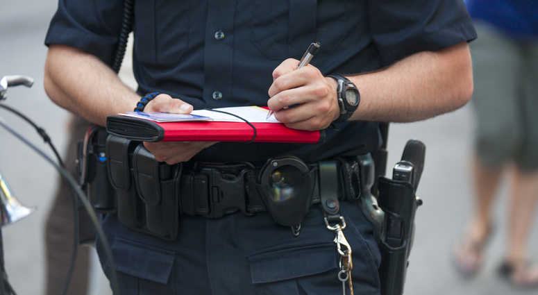 Generic police officer, file image.