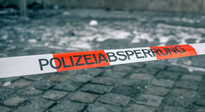 Police Tape In Germany