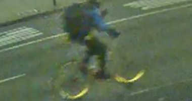 Police are looking for a bicyclist who allegedly stabbed a skateboarder.