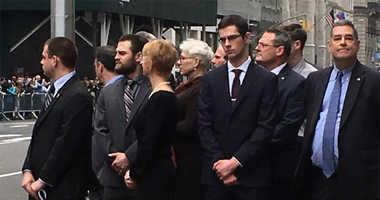 The family of slain NYPD Officer Eddie Byrne outside of a memorial held at St. Patrick's Cathedral 30 years after his death.