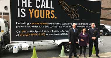 A new NYPD public service campaign to side sex assault survivors