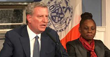 Mayor Bill de Blasio and First Lady Chirlane McCray