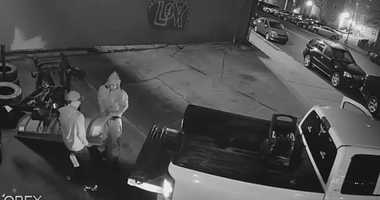 Police are looking for three men who stole a $4,5000 snow plow in Queens.