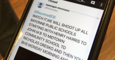 Bayonne schools were closed following a threat that surfaced on social media.