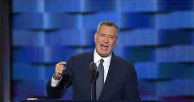 NYC Mayor Bill de Blasio at the DNC