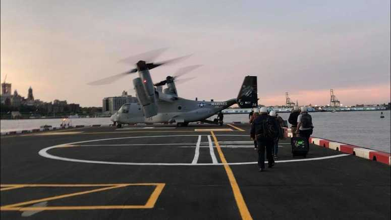 MV-22 Osprey at the Downtown Heliport