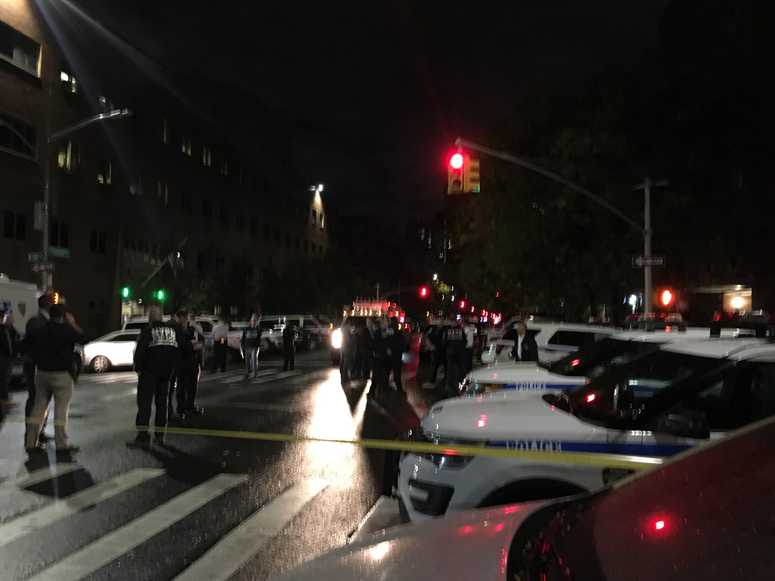 Scene of officer-involved shooting in Harlem