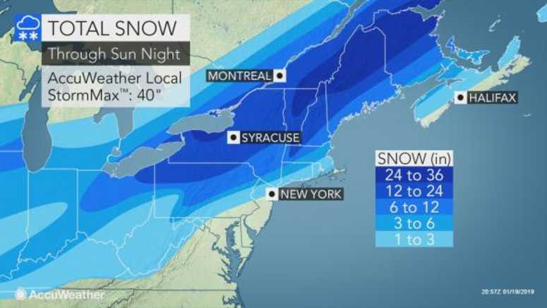 Total snow forecast
