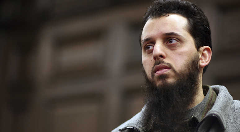 In this Jan. 8, 2007 file picture Moroccan Mounir El Motassadeq waits prior his trial at a court in Hamburg, northern Germany,