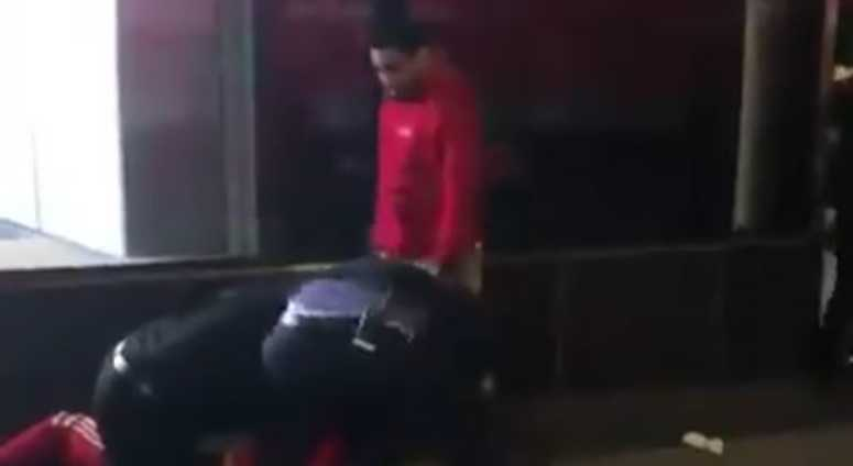 A video of an alleged assault by a Century 21 security guard on a shoplifting suspect.
