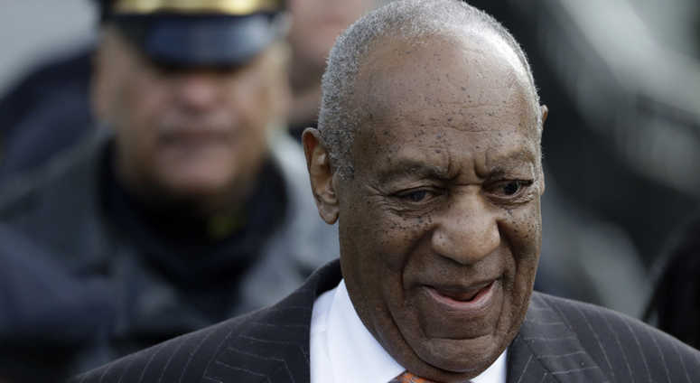 Bill Cosby departs after his sexual assault trial, Tuesday, April 10, 2018, at the Montgomery County Courthouse in Norristown, Pa.