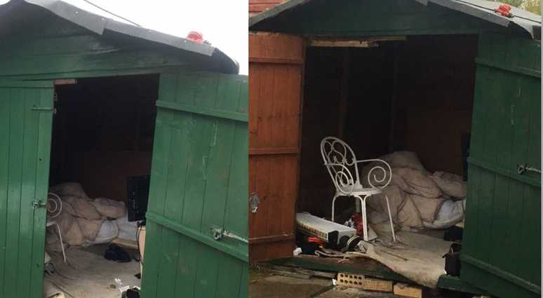 UK police rescue man in shed