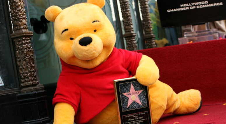 Winnie The Pooh receives a star on the Hollywood Walk of Fame