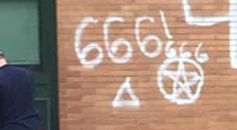 Police are nvestigating hateful graffiti found at Scotch Plains-Fanwood High School.